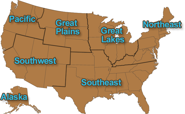 Great Lakes Region Tribes North American Tribes Of The United - Map-of-us-native-american-tribes